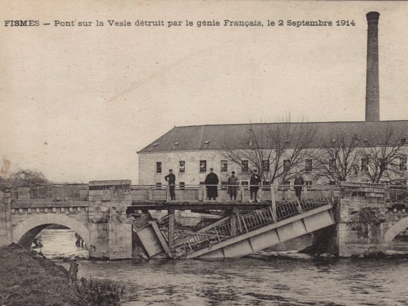 Bridge over the Vesle, in Chassemy