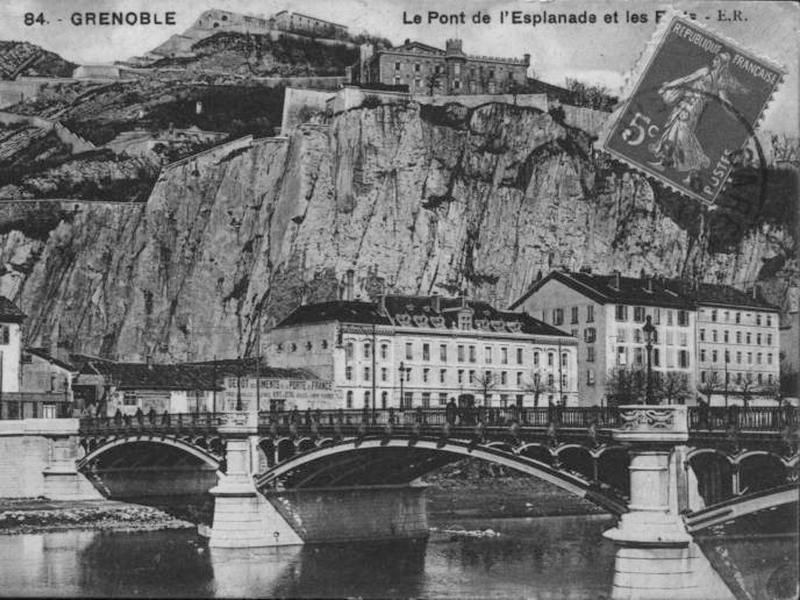 Bridge of the Porte de France in Grenoble