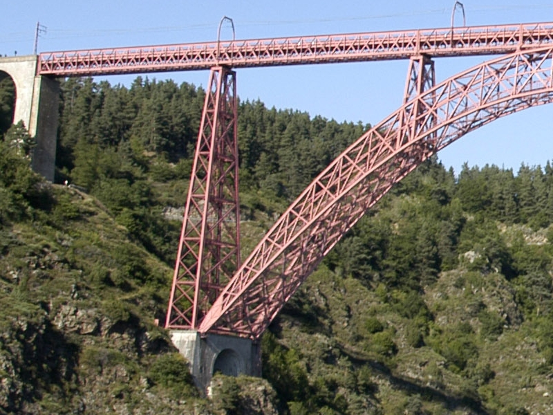 Stack of the viaduct of Garabit, by Gustave Eiffel