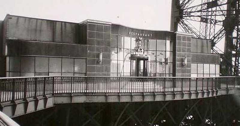 Restaurant of the Eiffel Tower in 1937