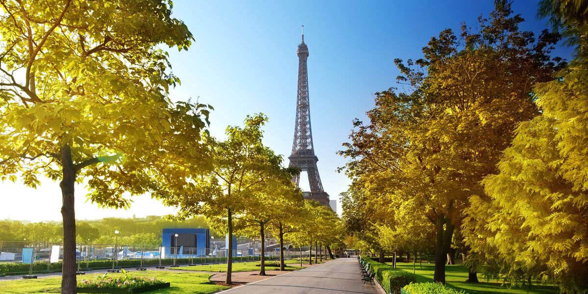 The Eiffel Tower on a Spring Day