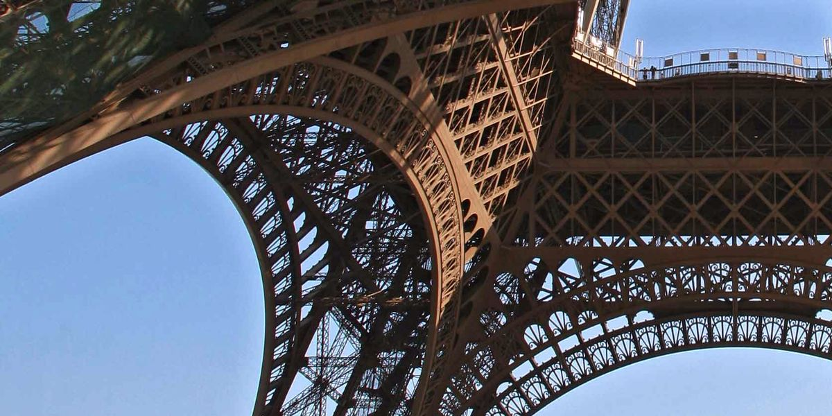 Detail of the structure of the Eiffel Tower