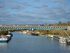Viaduct of Conflans-Sainte Honorine, Yvelines, France