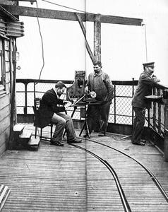 Mr Ducretet during the first radio link