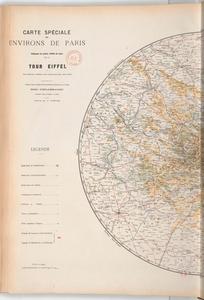 Map of Paris surroundings