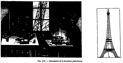 The laboratory of the 2nd floor of the Eiffel Tower