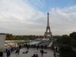 The tower and gardens of Trocadero