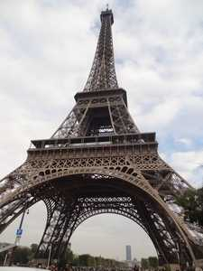 The Eiffel Tower seen up close