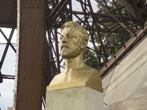 The bust of Gustave Eiffel