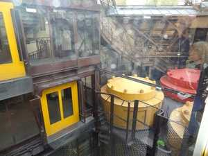 The elevator shaft