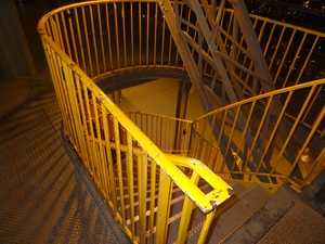 Stairs between two levels