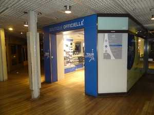 The entrance to one of the official shops