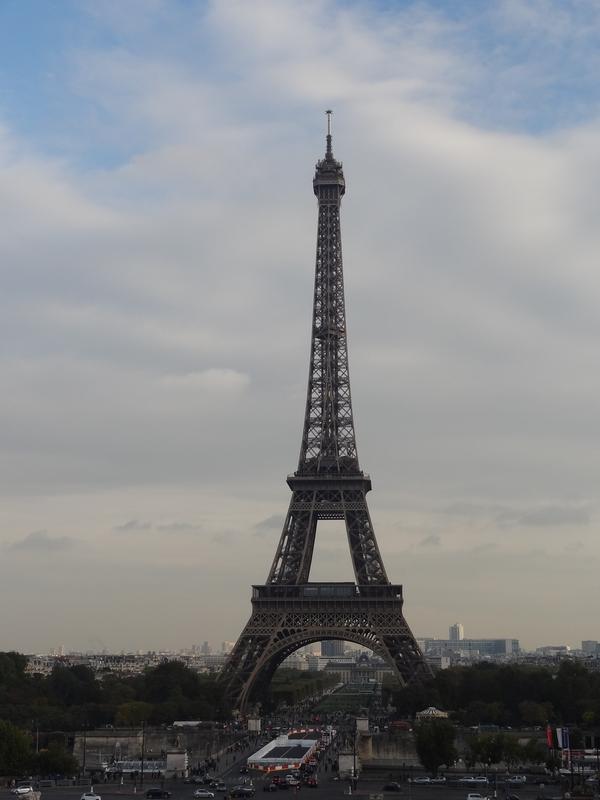 The Eiffel tower seen from Trocadero