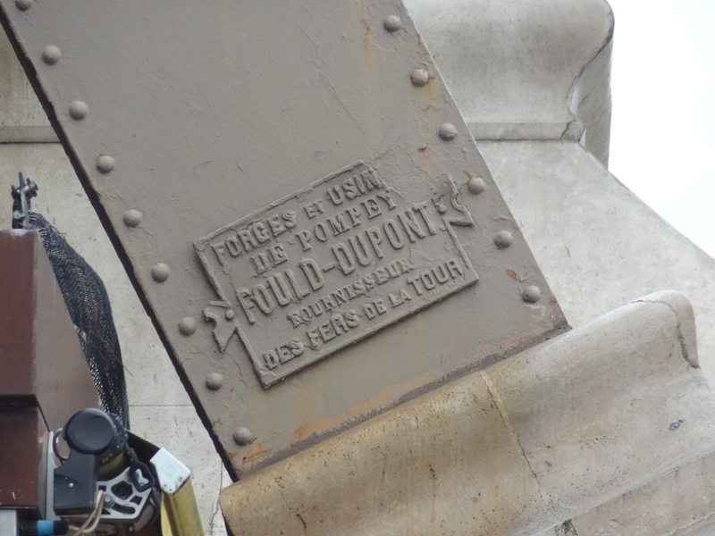 Plate indicating the origin of the iron