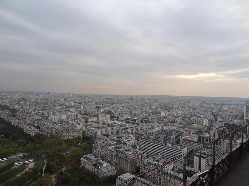 Paris seen from the 2nd floor of the Eiffel Tower