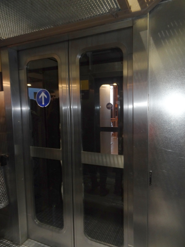 The elevator for the 3rd floor