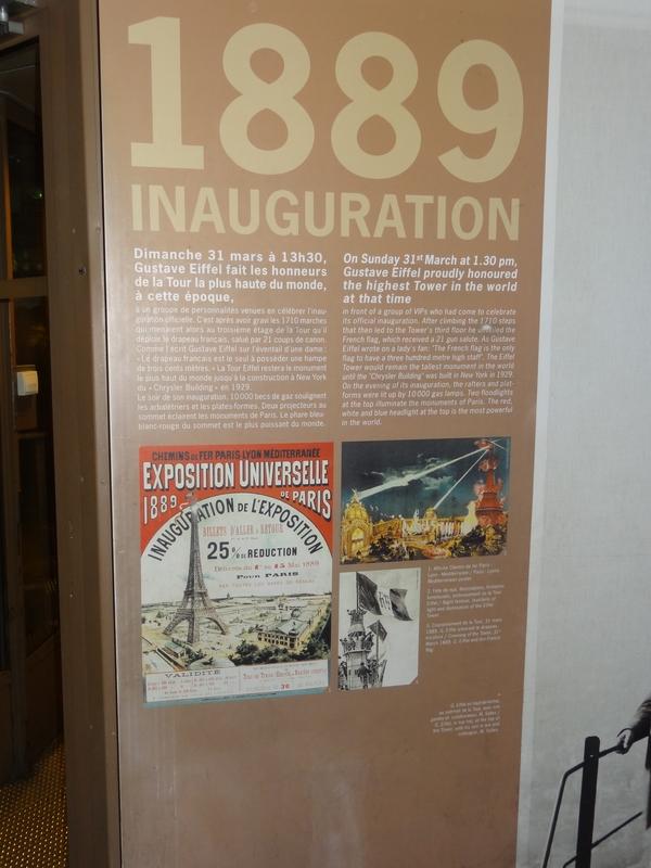 Panel explaining the inauguration