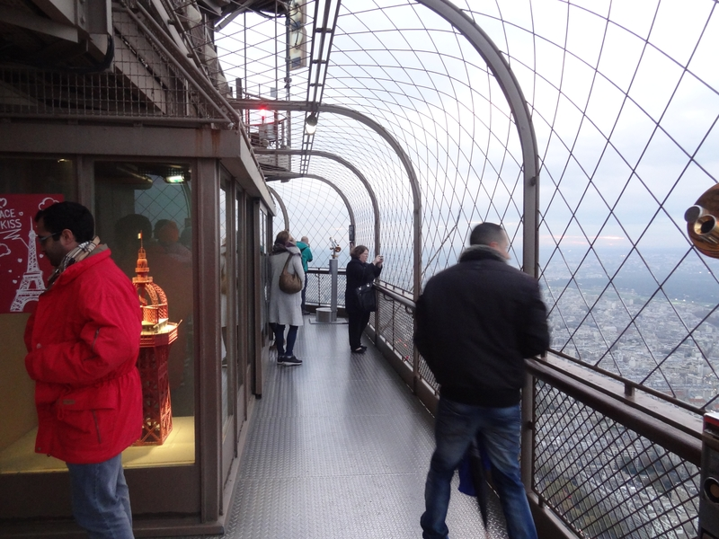 A balcony on the 3rd floor of the Eiffel Tower