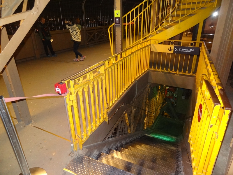 The stairs down to the 1st floor