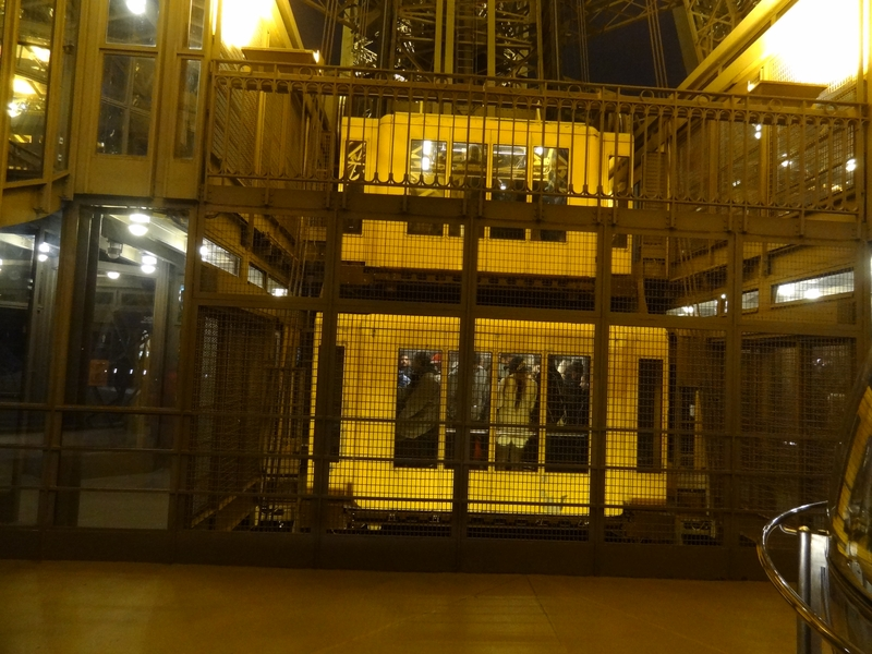 The elevator shaft descending into the East pillar