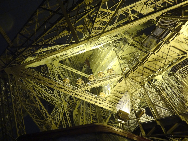Internal structure of the Eiffel Tower