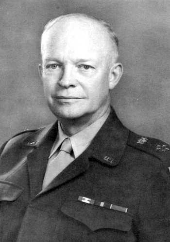 The american president Dwight Eisenhower
