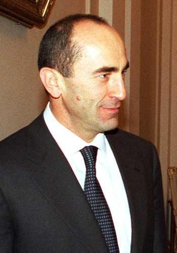 The armenian president Robert Kotcharian