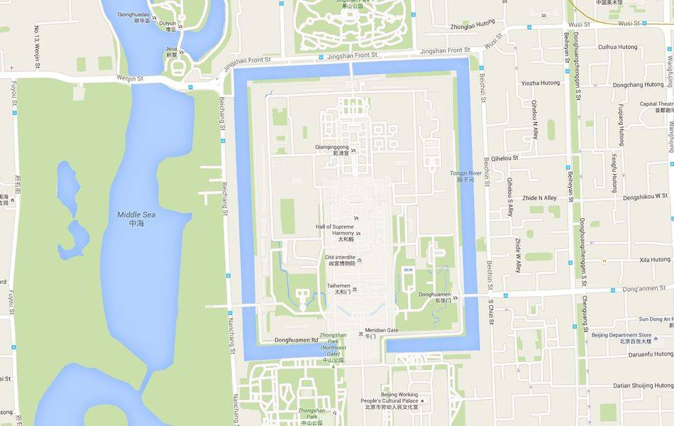 Location of the Forbidden city