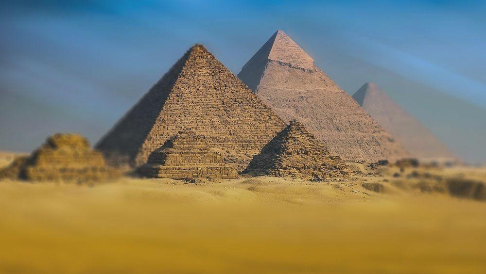 The three pyramids of Giza