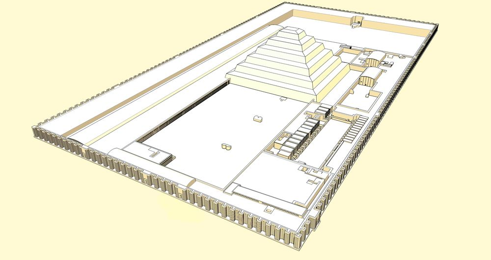 Diagram of Djoser Funeral Complex