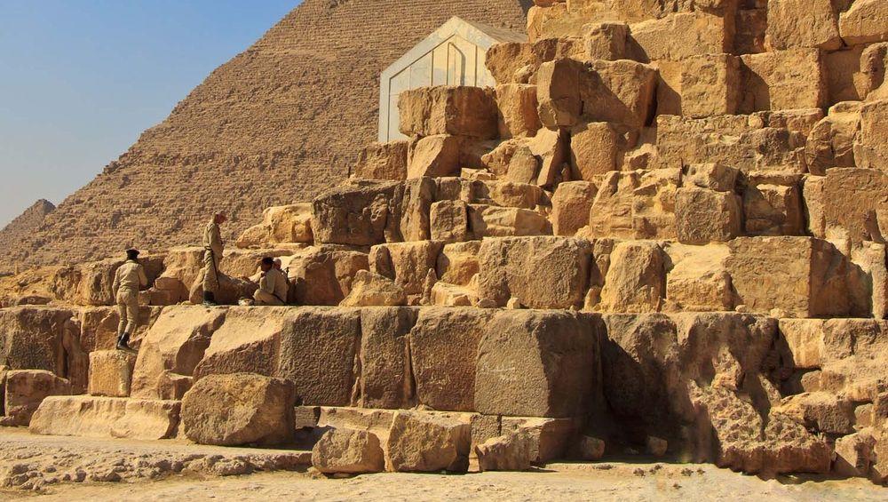 The limestone blocks