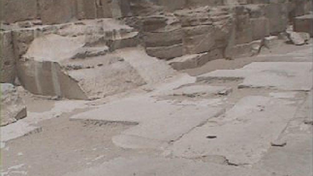 The pavement of the Giza plateau