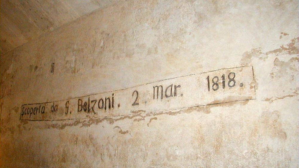 Writing of Belzoni