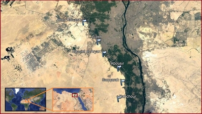 Pyramids In Egypt Map.Location Of The Egyptian Pyramids
