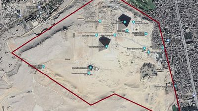 The Giza Plateau Highlighted