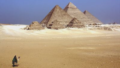 The three pyramids of Giza