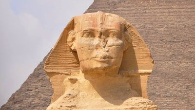 The face of the Sphinx of Egypt