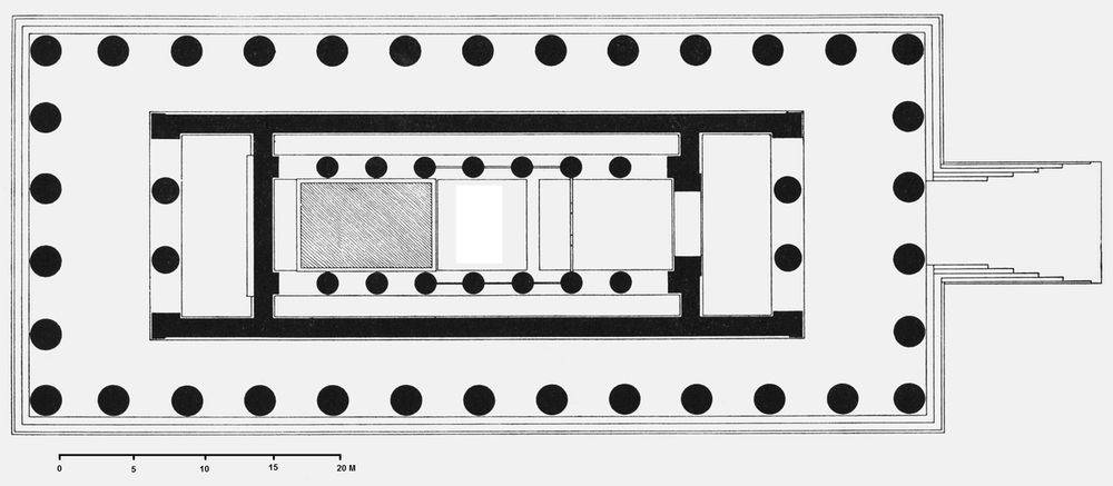 Plan of the temple of Zeus