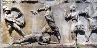 Frieze of the mausoleum