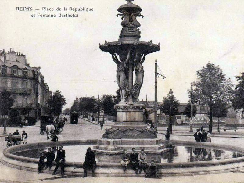 Bartholdi fountain, Reims