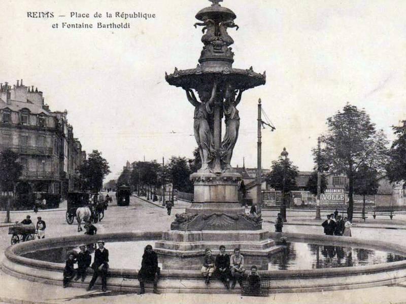 Bartholdi fountain, Reims