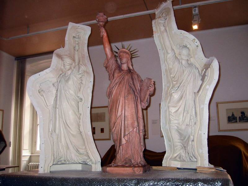 The mold of the statue of Liberty