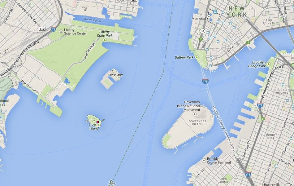 Location Of The Statue Of Liberty - Where is the statue of liberty located