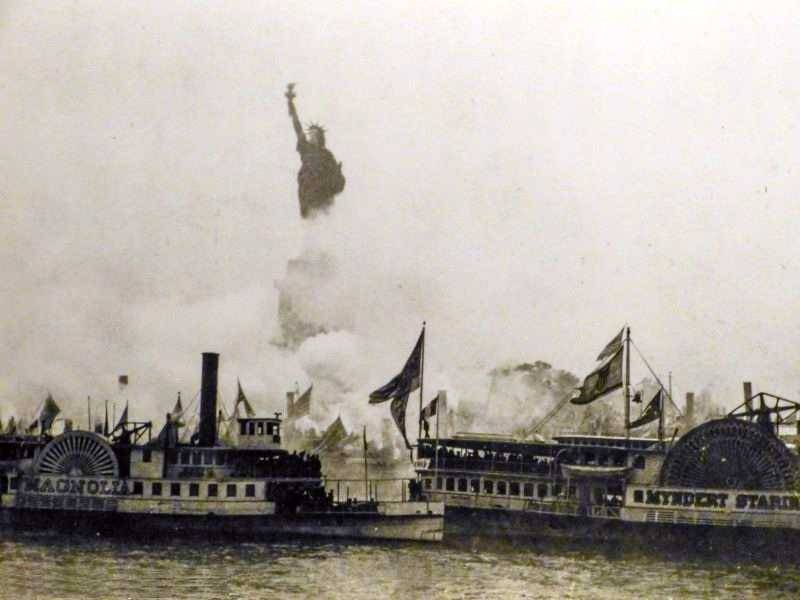 Inauguration of the statue of Liberty