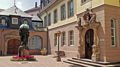 The entry of the Bartholdi museum, at Colmar