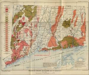 Position of a Beattie career, Connecticut (map of 1906)