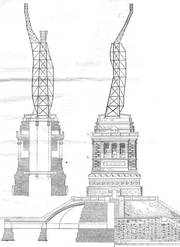Structure of the statue