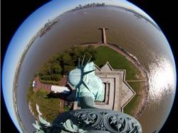 Webcam on the statue of Liberty