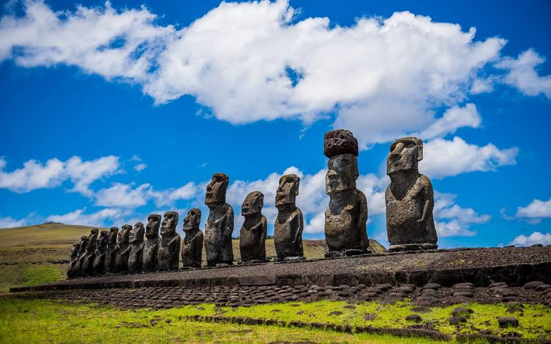 The statues of Easter Island