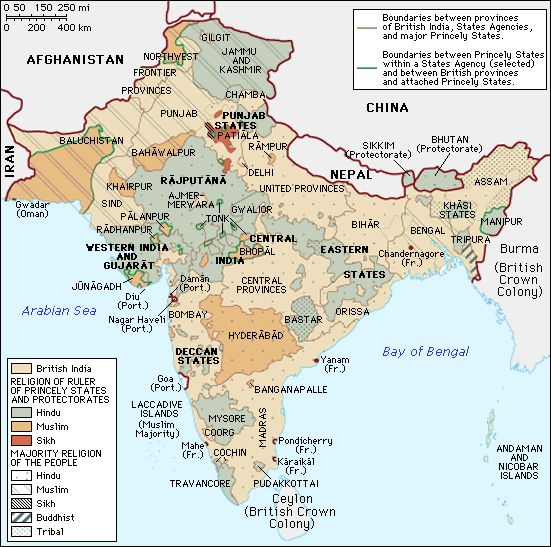 History Of India - Map of united provinces india